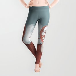 redhead girl with tatoo Leggings
