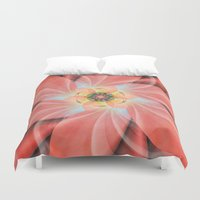 cherry blossom Duvet Covers featuring Cherry Blossom by Christine baessler