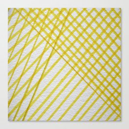 Lines Yellow Lines Canvas Print