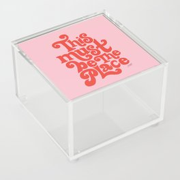 This Must Be The Place (Pink/Red Palette) Acrylic Box