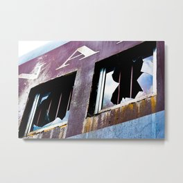 Weathered and Abandoned Metal Print