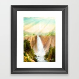 Beyond the Waterfall Framed Art Print