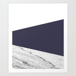 Marble Eclipse blue Geometry Art Print