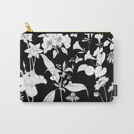 Black beautiful flowers Carry-All Pouch