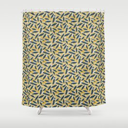 Guinea Fowl Feathers Shower Curtain