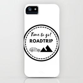 Tiempo de viajar | Time to go Roadtrip iPhone Case