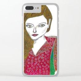 Woman Portrait no 2 Clear iPhone Case