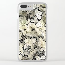 Lacy leaves Clear iPhone Case