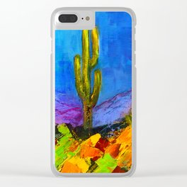 Desert Giant Clear iPhone Case