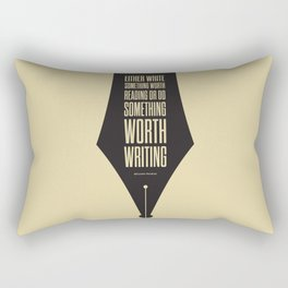Lab No. 4 - Reading and Writing Benjamin Franklin Quotes Poster Rectangular Pillow