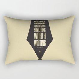 Lab No. 4 - Reading and Writing Benjamin Franklin Quotes Poster Rectangular Pillow