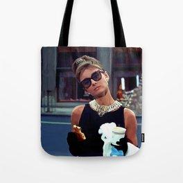 Audrey Hepburn #3 @ Breakfast at Tiffany's Tote Bag
