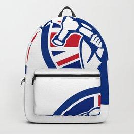British Joiner Union Jack Flag Icon Backpack