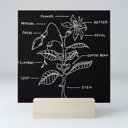 Coffee Plant Diagram Illustration Mini Art Print