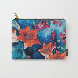 Blooming Night Garden: Twilight Carry-All Pouch