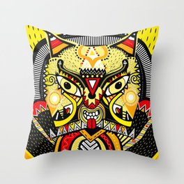 LISHKA YELLOW Throw Pillow