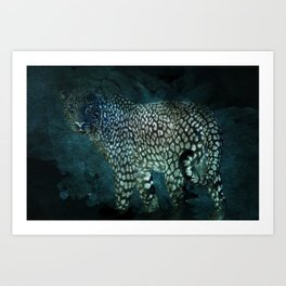 Midnight Jaguar Art Print