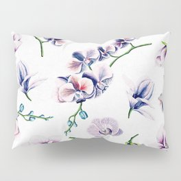 Lavender Blossom Floral Pattern Pillow Sham