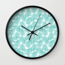 Palm tropical indoor house plants nature botanical vacation island summer surfing beach hipster Wall Clock
