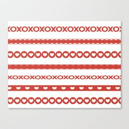 Valentine's Day Ribbons Canvas Print