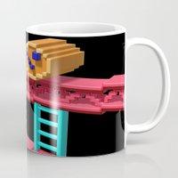 donkey kong Mugs featuring Inside Donkey Kong by Metin Seven