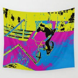 """Hitting the Ramp"" - BMX Biker Wall Tapestry"