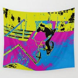 """Hitting the Ramp"" - BMX Biker Wall Tapestry"