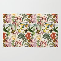 botanical Area & Throw Rugs featuring Botanical by Bambouchic