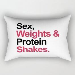 Protein Shakes Gym Quote Rectangular Pillow