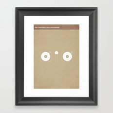 Two Turntables and a Microphone Framed Art Print