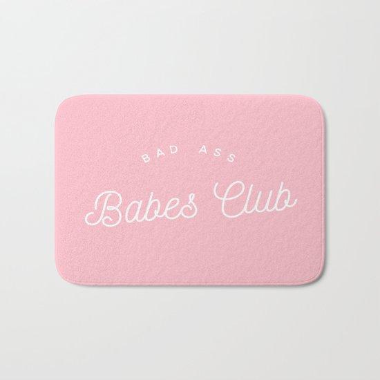 BADASS BABES CLUB PINK Bath Mat
