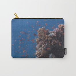 Bloom of fish rising from the reef Carry-All Pouch