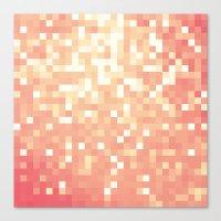 peach Canvas Prints featuring Peach by WhimsyRomance&Fun