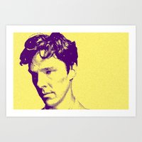 cumberbatch Art Prints featuring CUMBERBATCH by Anile McLean