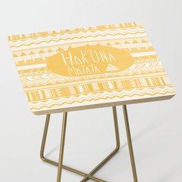 Hakuna Matata Yellow Side Table
