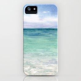 Watercolor Sea Landscape iPhone Case
