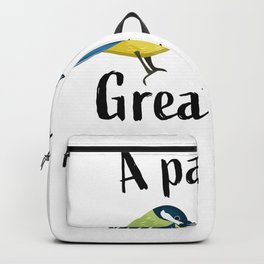 A pair of great tits | Funny bird Gift Backpack