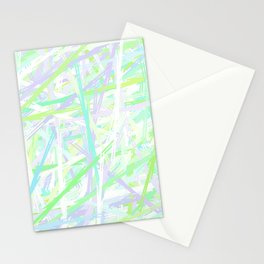 I Lost at Paintball Abstract Streaks Stationery Cards