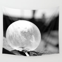Black and White Frozen Bubble Wall Tapestry