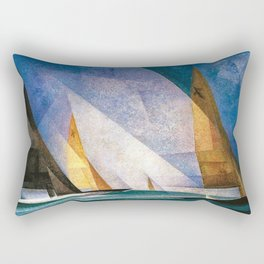 Sailboats by Lyonel Feininger Rectangular Pillow