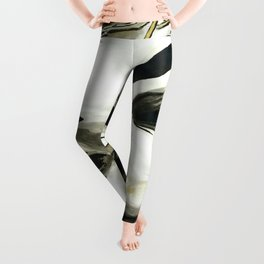 BLACK WHITE AND A LITTLE GOLD COLLECTION Leggings