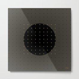 """""""Grey & Polka dots central circle pattern"""" Metal Print"""