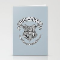 hogwarts Stationery Cards featuring Hogwarts by Cécile Pellerin