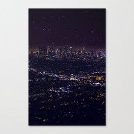 Stars Over Los Angeles II Canvas Print