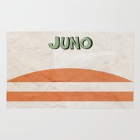 movie poster Area & Throw Rugs featuring Juno - Alternative Movie Poster by Stefanoreves