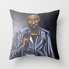 Chris Stand-Up Rock Portrait Throw Pillow