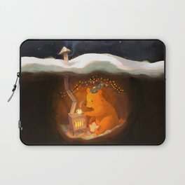 Snowy Rooftops Laptop Sleeve