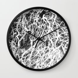 Glowing Brush Wall Clock