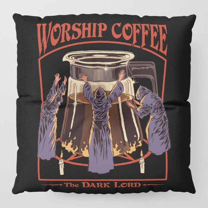 Worship Coffee Floor Pillow