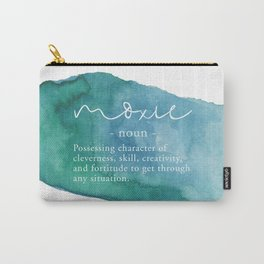 Moxie Definition - Blue Watercolor Carry-All Pouch